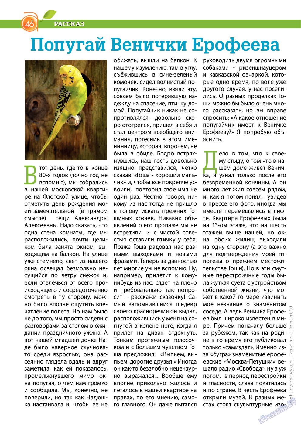 Апельсин (журнал). 2015 год, номер 66, стр. 46