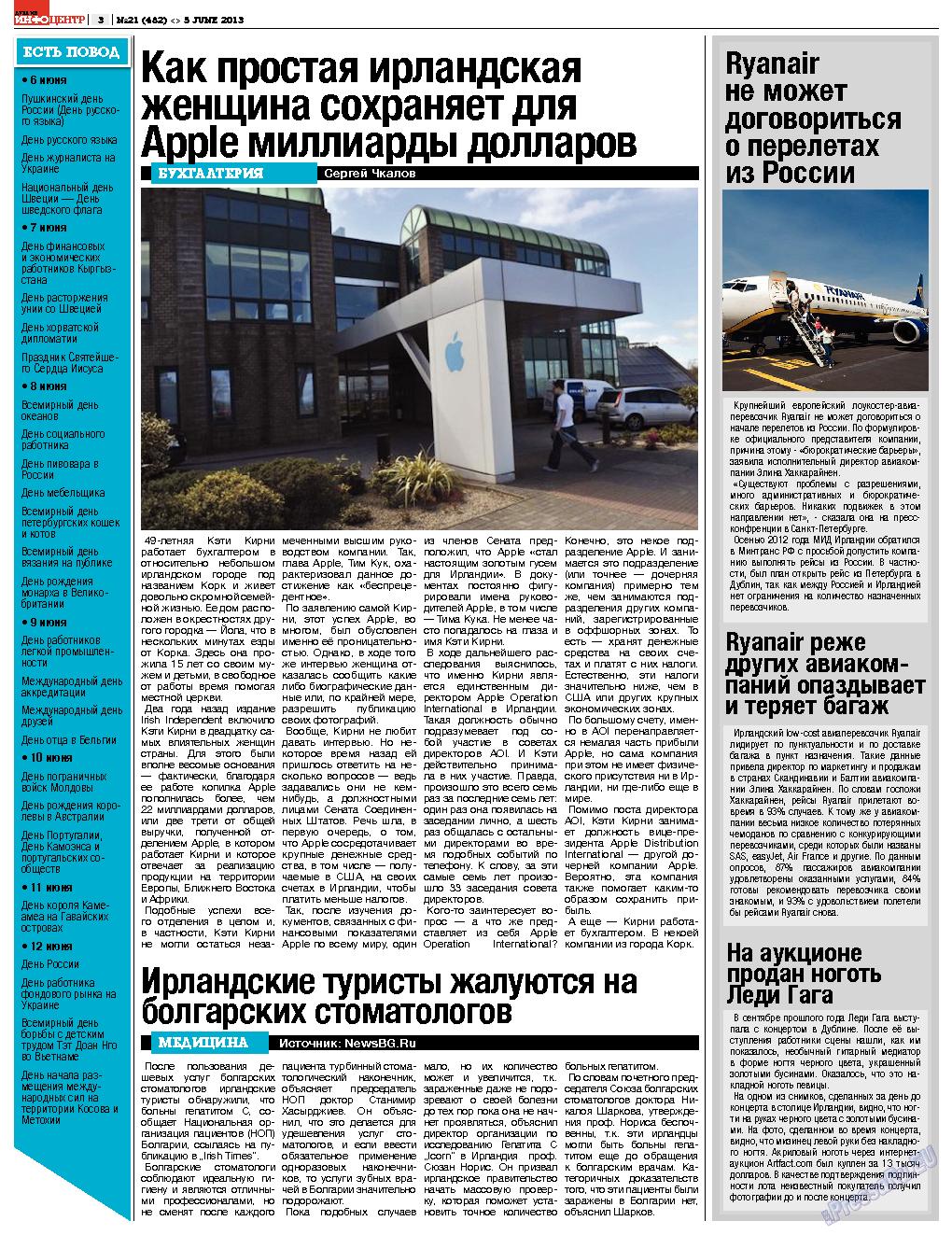 Дублин инфоцентр (газета). 2013 год, номер 21, стр. 3