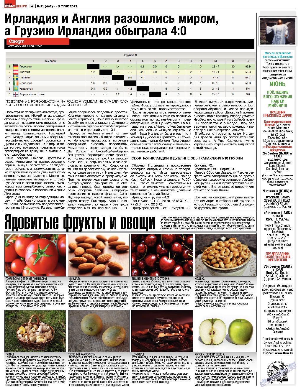 Дублин инфоцентр (газета). 2013 год, номер 21, стр. 4