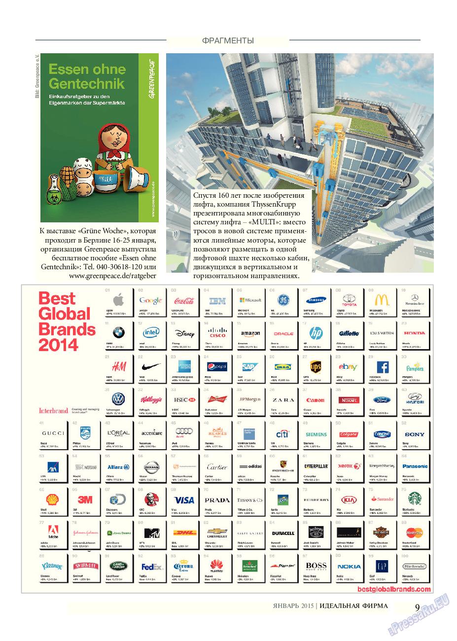 Идеальная фирма (журнал). 2015 год, номер 1, стр. 9
