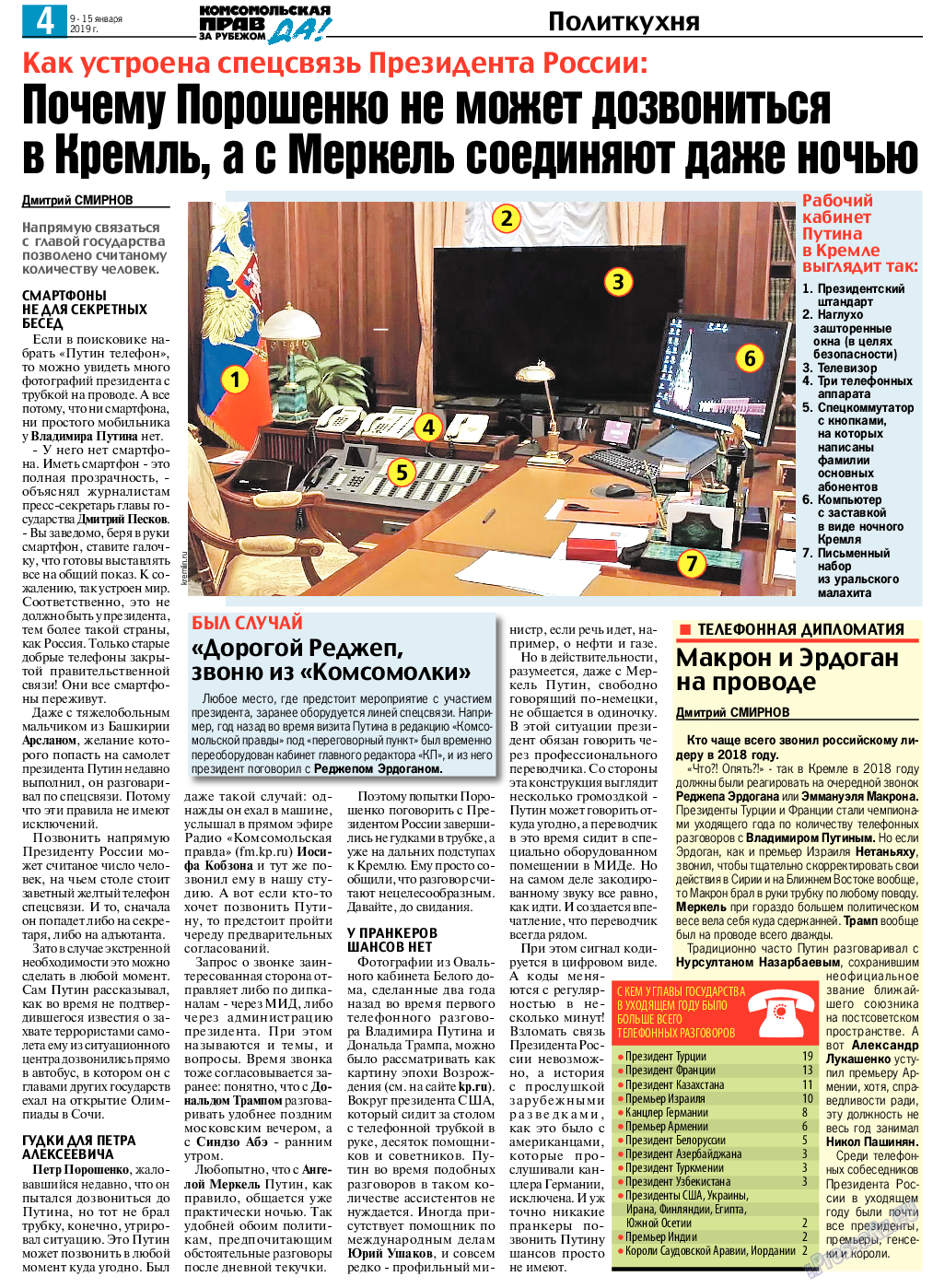 КП в Европе (газета). 2019 год, номер 2, стр. 4