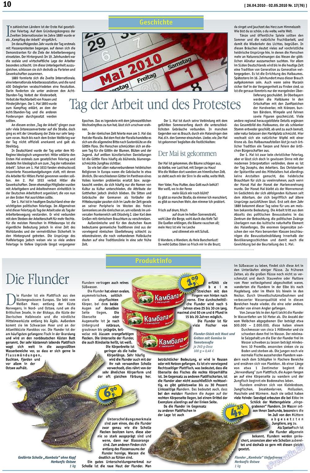 MIX-Markt Zeitung (газета). 2010 год, номер 17, стр. 10