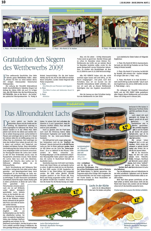 MIX-Markt Zeitung (газета). 2010 год, номер 8, стр. 10
