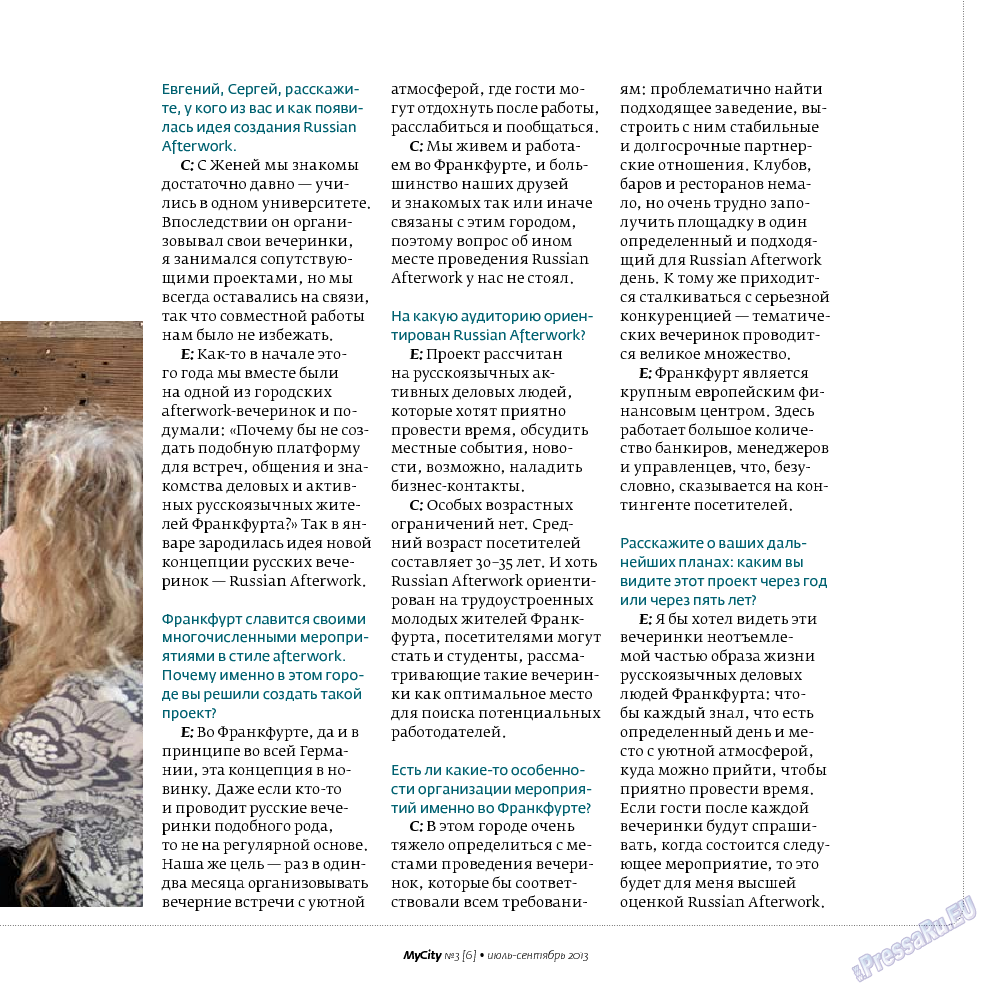 My City Frankfurt am Main (журнал). 2013 год, номер 6, стр. 27