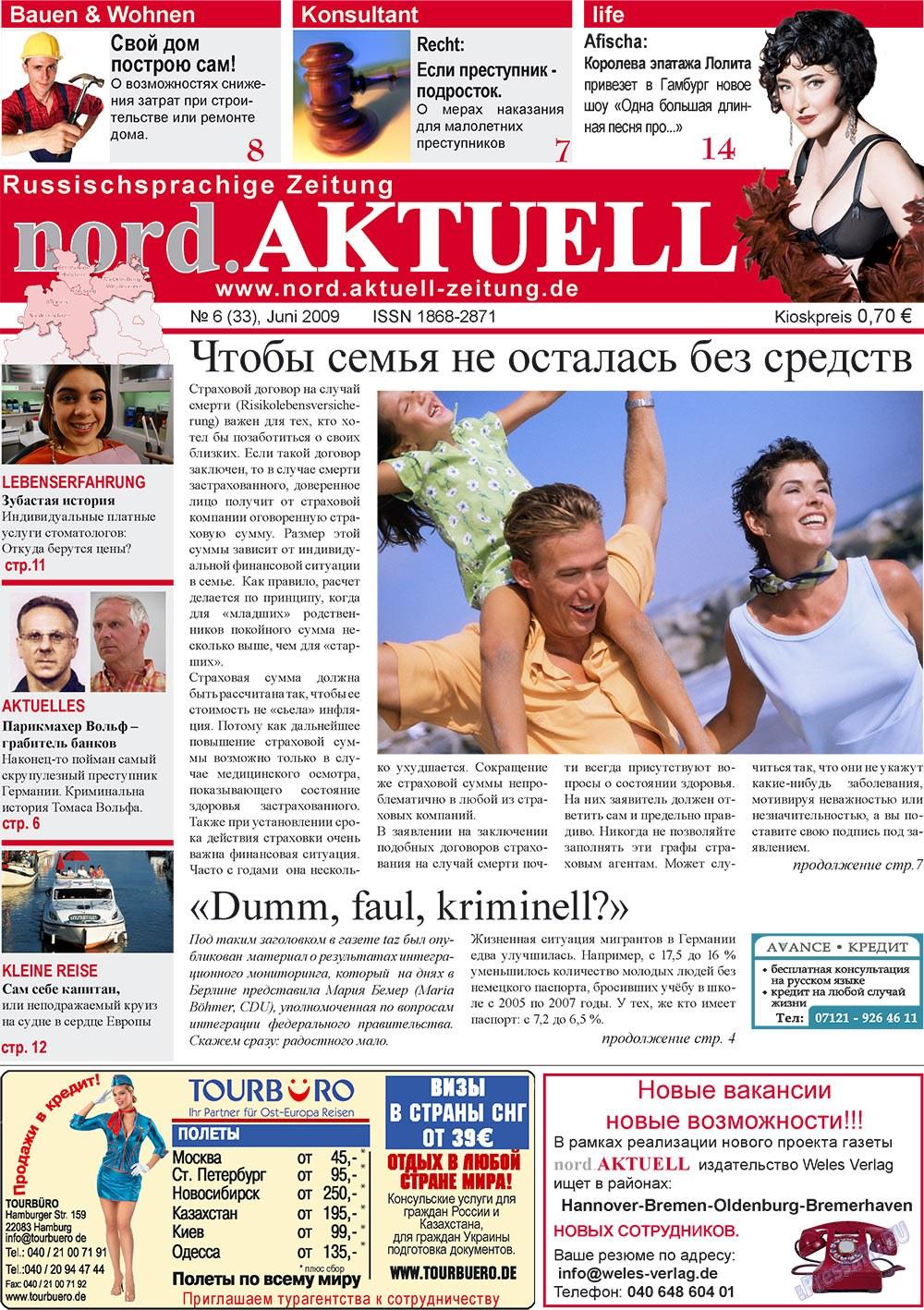nord.Aktuell (газета). 2009 год, номер 6, стр. 1