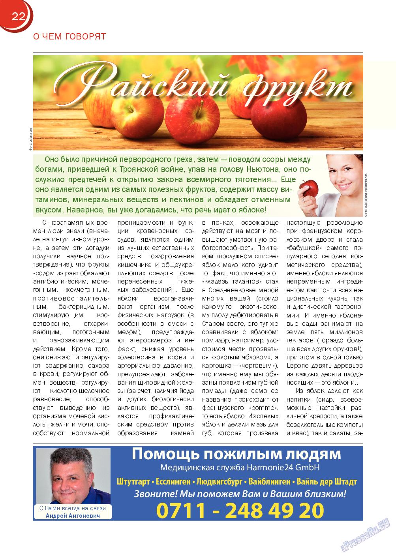 Русский Баден-Вюртемберг (журнал). 2014 год, номер 44, стр. 22