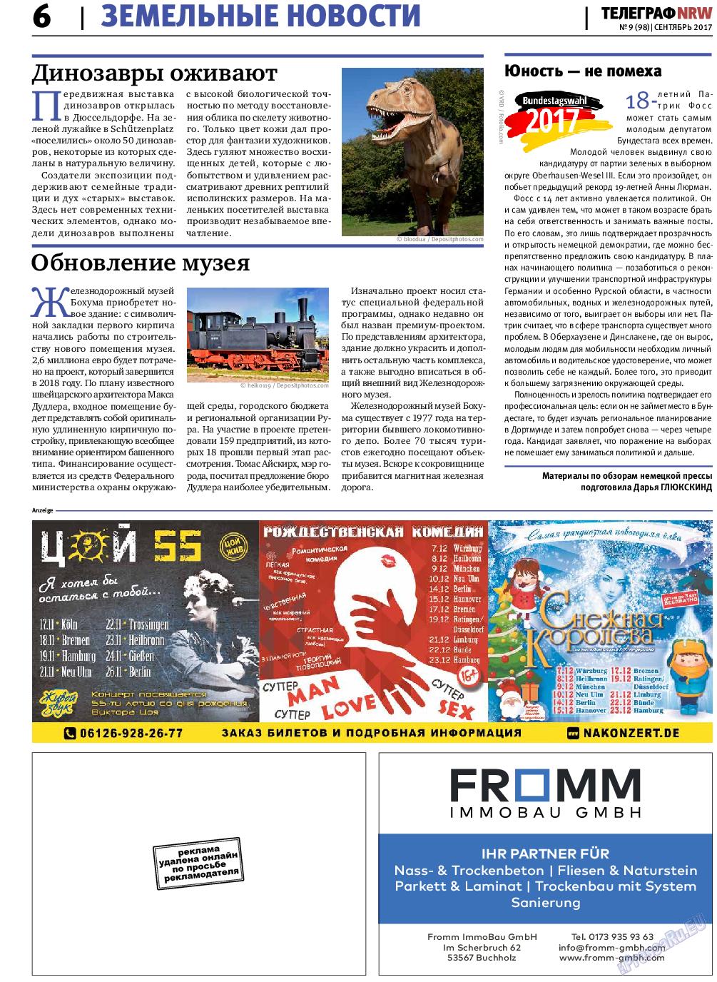 Телеграф NRW (газета). 2017 год, номер 9, стр. 6