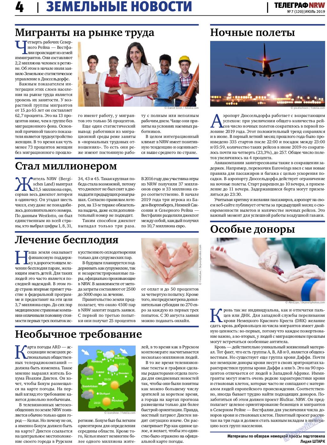 Телеграф NRW (газета). 2019 год, номер 7, стр. 4